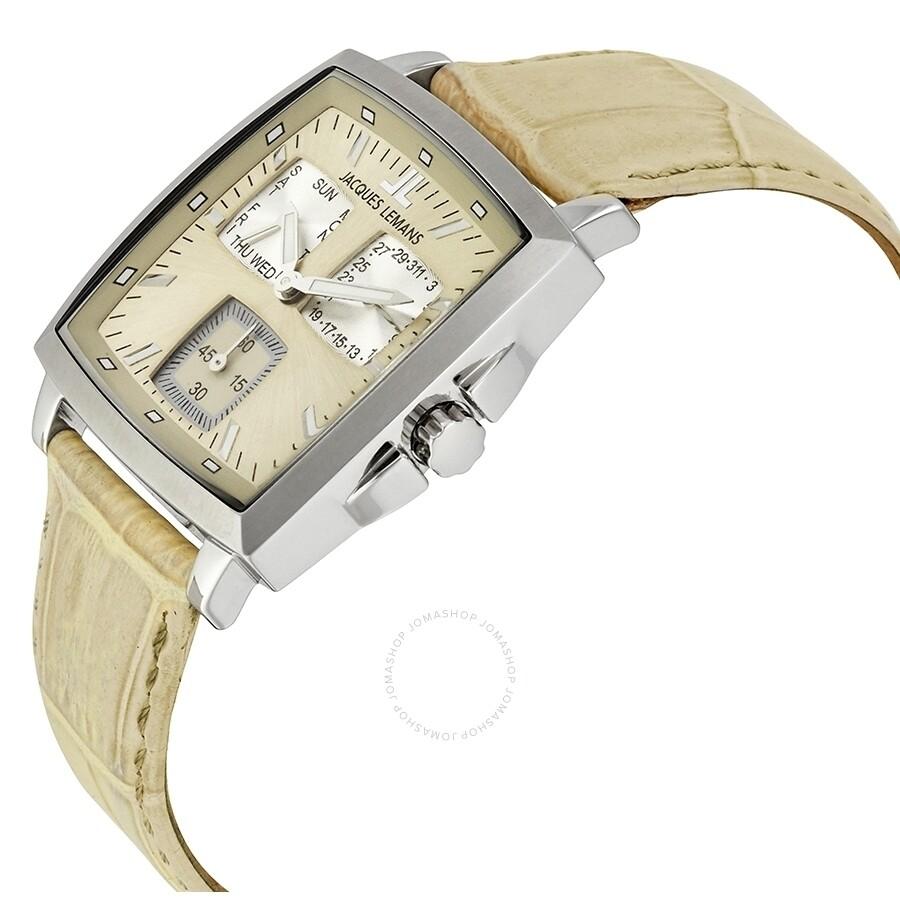 ... Jacques Lemans Milano Beige Silver Dial Men s Watch 1-1474E ... dcada506e33