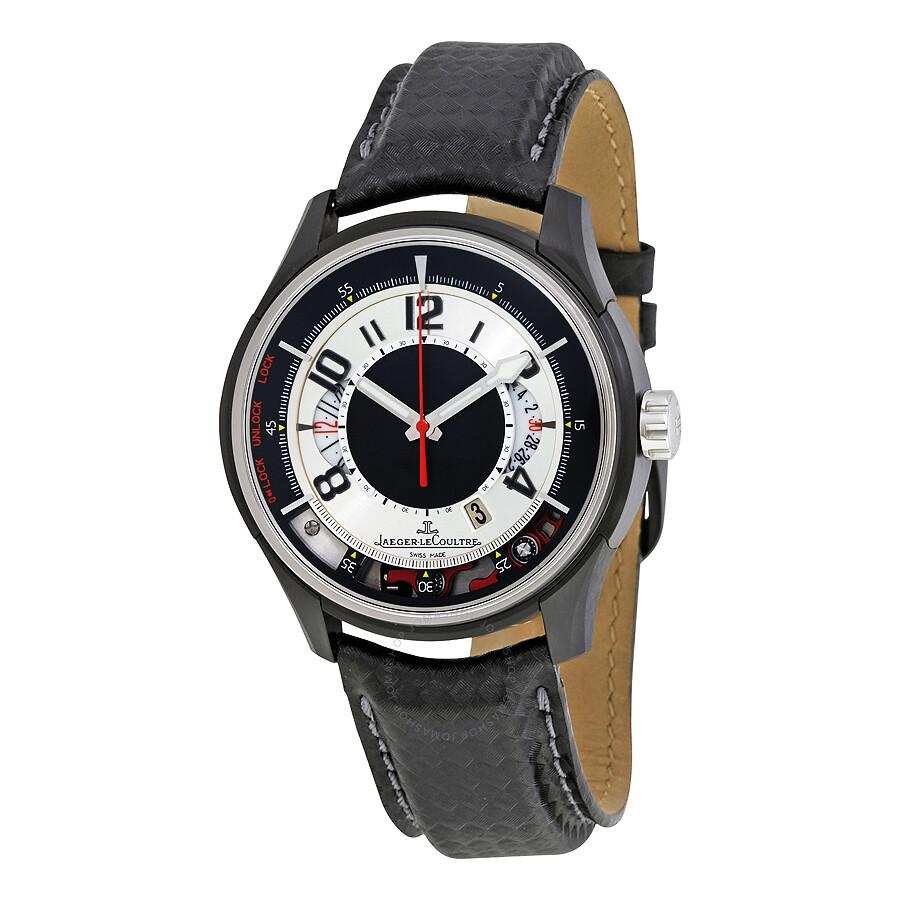 Jaeger lecoultre amvox amvox2 titanium grey leather men 39 s watch q192t470 amvox jaeger for Lecoultre watches