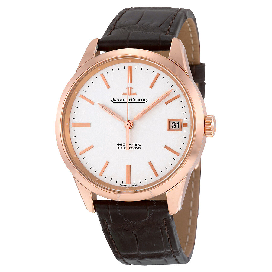 Jaeger lecoultre geophysic true second 18kt everose gold date automatic men 39 s watch q8012520 for Lecoultre watches