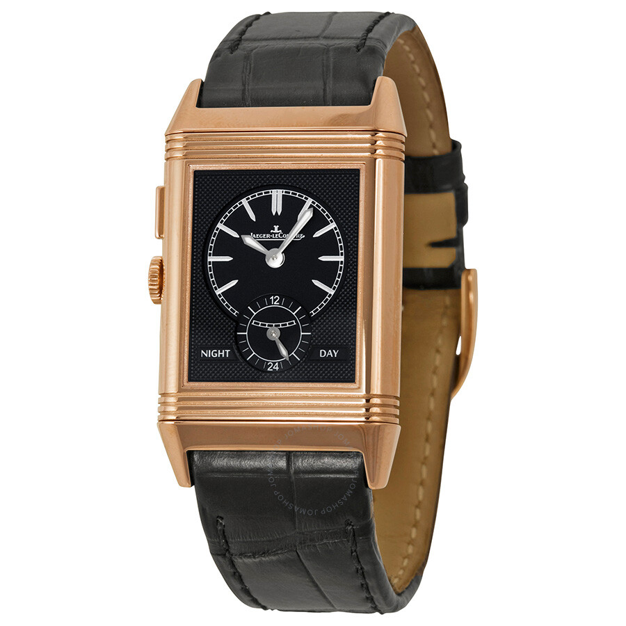 Jaeger lecoultre grande reverso ultra thin duoface gmt 18kt pink gold men 39 s watch reverso for Lecoultre watches