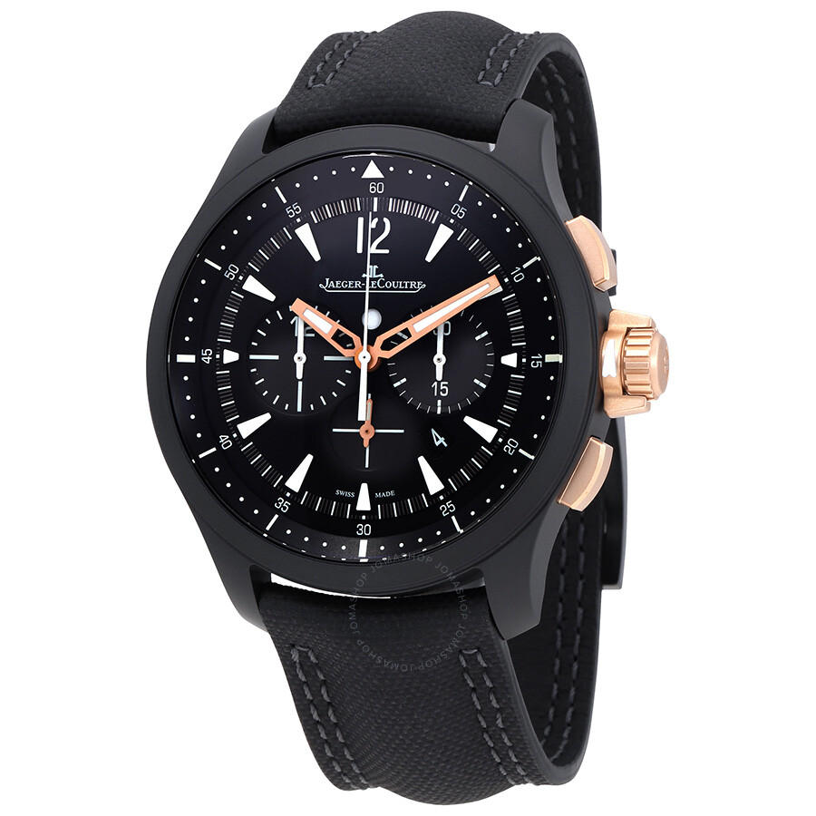 Jaeger lecoultre master compressor chronograph black dial men 39 s watch q205l570 master for Lecoultre watches