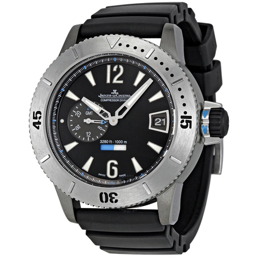 ec5beacb1dc Jaeger LeCoultre Master Compressor Diving GMT Black Dial Men's Watch  Q184T670