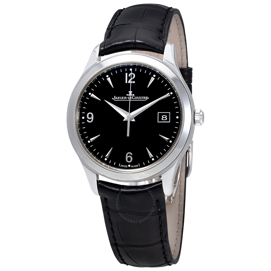 Jaeger lecoultre master control black dial automatic men 39 s watch q1548471 master control for Lecoultre watches