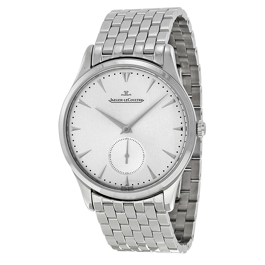 Jaeger lecoultre master control grande ultra thin silver dial stainless steel men 39 s watch for Lecoultre watches