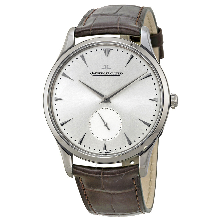 jaeger lecoultre master grand ultra thin leather strap automatic men 39 s watch q1358420 master
