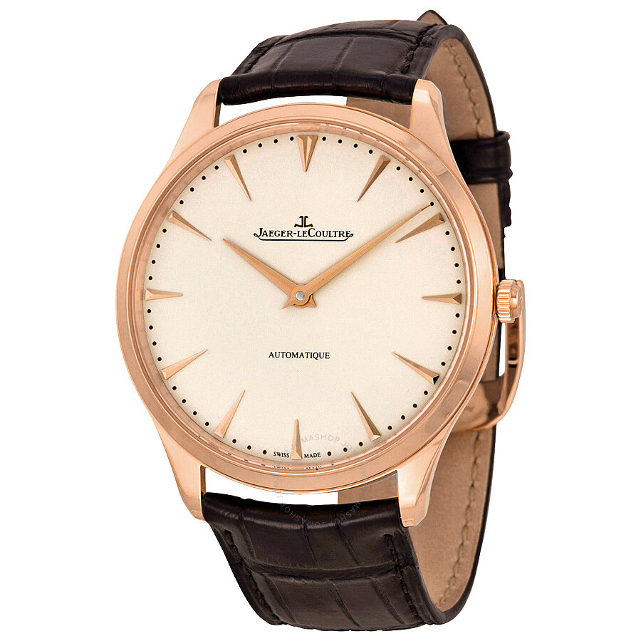 Jaeger lecoultre master ultra thin automatic rose gold men 39 s watch q1332511 master ultra thin for Lecoultre watches