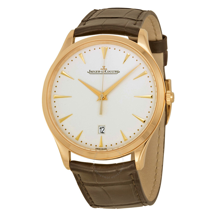 Jaeger lecoultre master ultra thin beige dial pink gold men 39 s watch q1282510 master ultra thin for Lecoultre watches