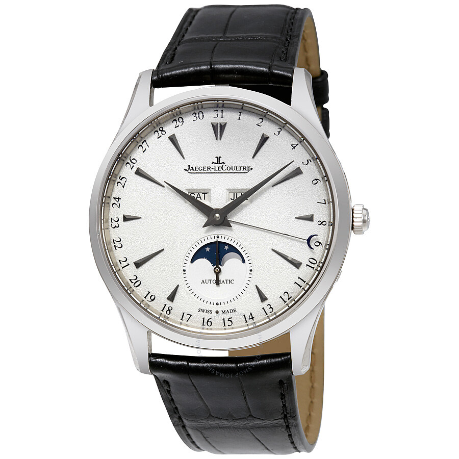 Jaeger lecoultre master ultra thin calendar 18k white gold automatic men 39 s watch q1263520 for Lecoultre watches