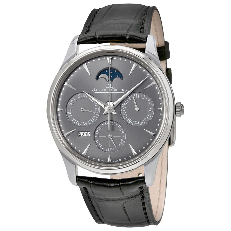 Jaeger LeCoultre Master Ultra Thin Perpetual Silver Dial Automatic Men s  Watch Q130354J ... cd7e8707cf