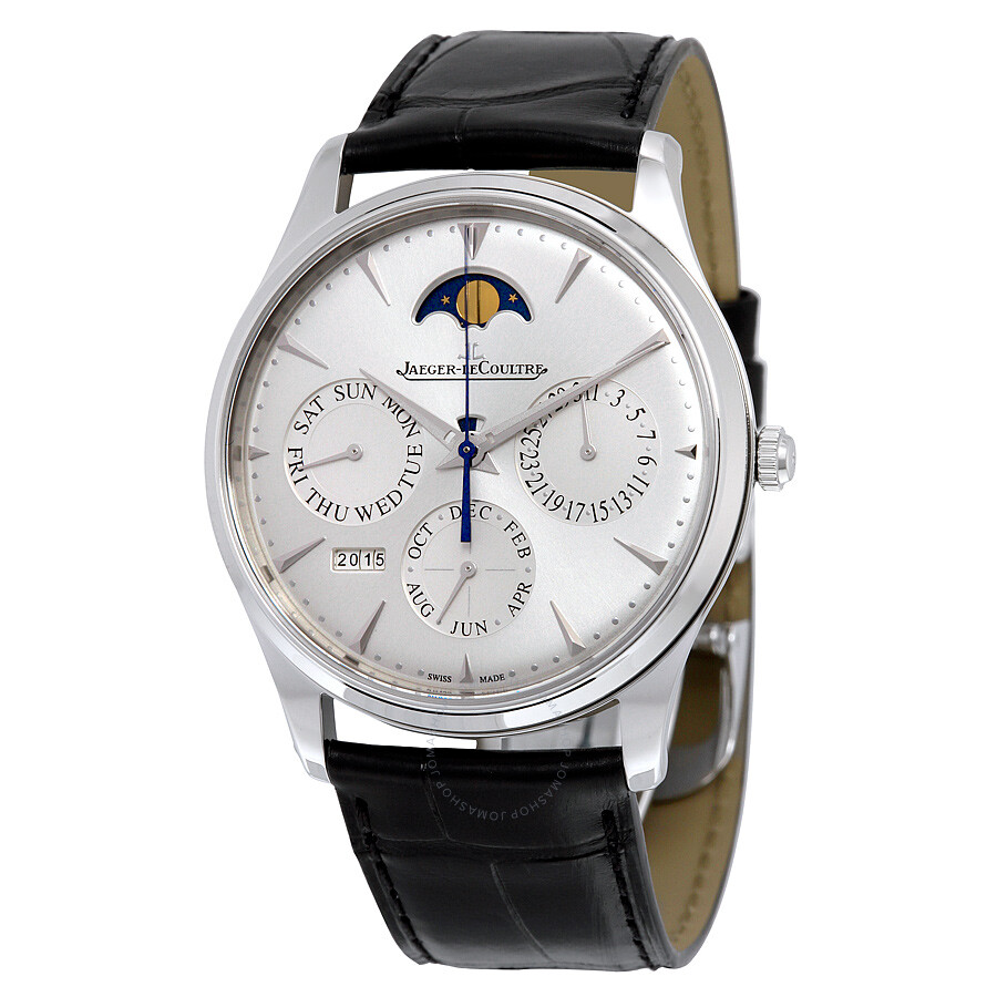 jaeger lecoultre master ultra thin perpetual silver