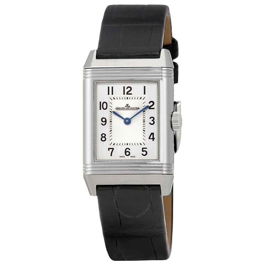 12fca0c0ab70 Jaeger LeCoultre Reverso Classic Silver Dial Ladies Leather Watch Q2608530  ...