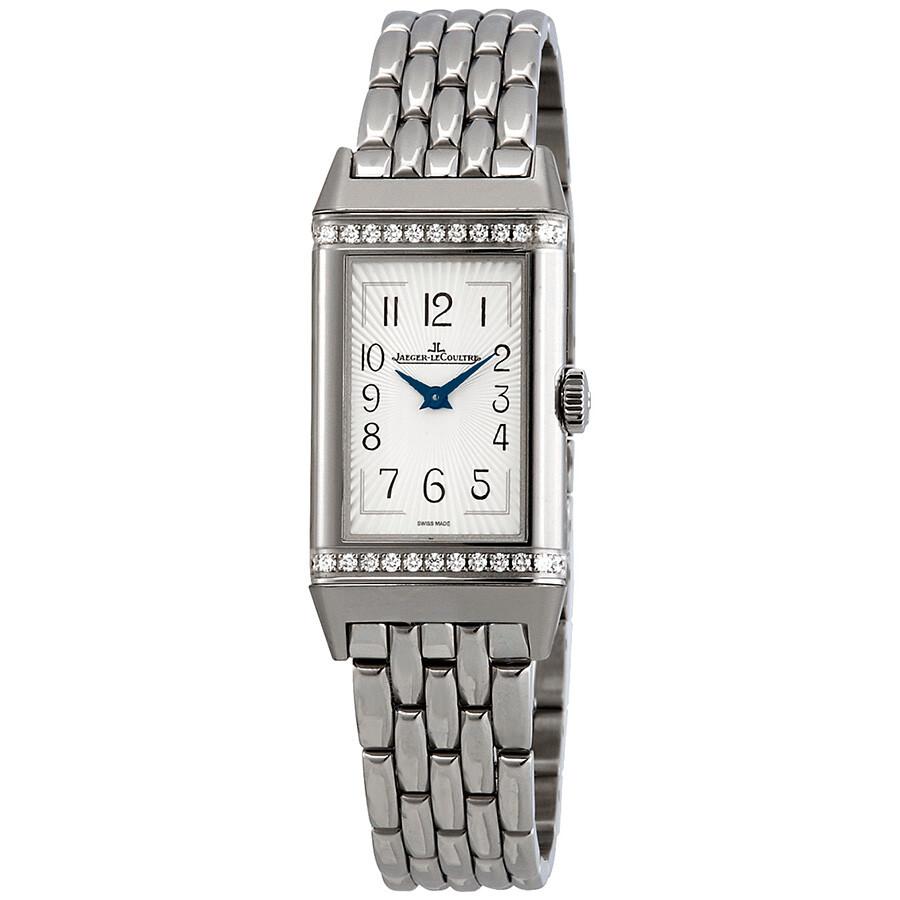 Reverso Diamond Silver Dial Ladies Watch Q3288120