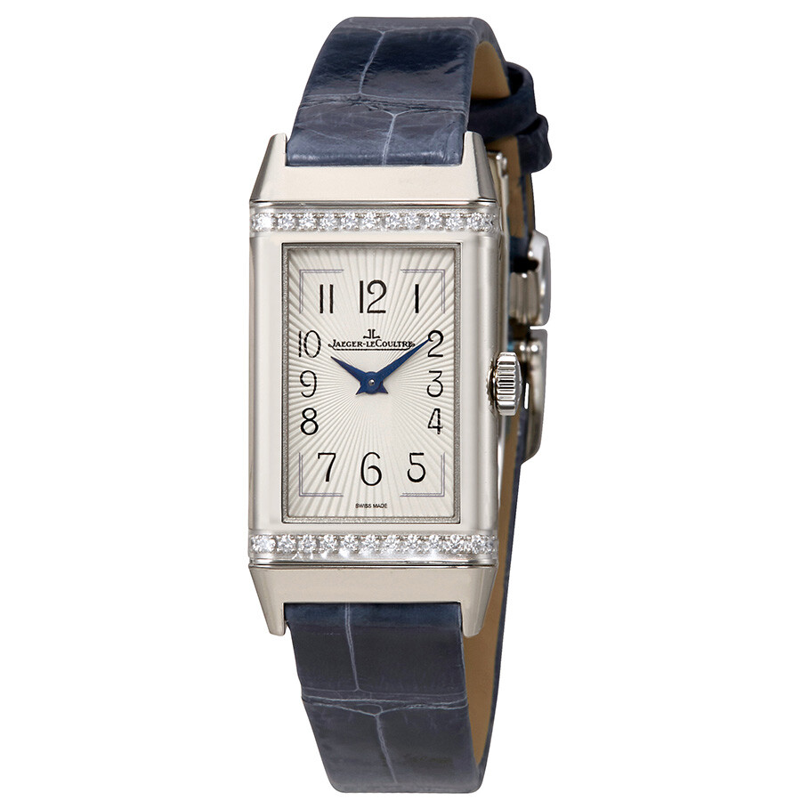 Jaeger Lecoultre Reverso Silver Dial Ladies Diamond Watch Q3288420