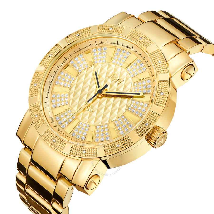 JBW 562 Diamond Gold-tone Dial Gold-plated Stainless Steel Men's Watch  JB-6225-M