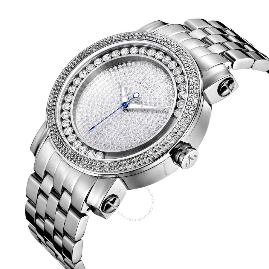 jbw hendrix silver dial diamond men s watch j6338a hendrix jbw jbw hendrix silver dial diamond men s watch j6338a