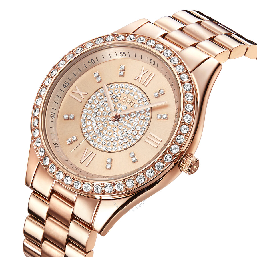Mondrian Quartz Diamond Crystal Rose Dial Ladies Watch J6303C