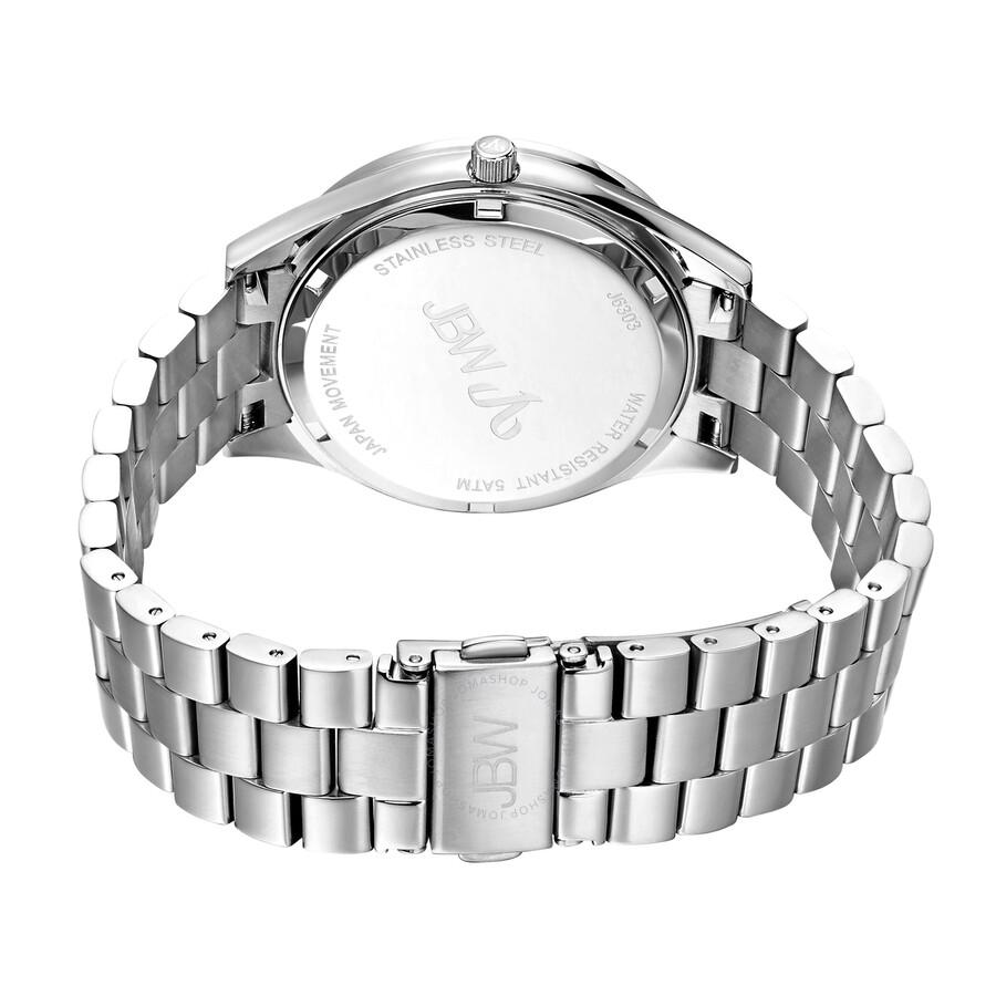 Mondrian Silver Diamond Dial Stainless Steel Ladies Watch J6303A
