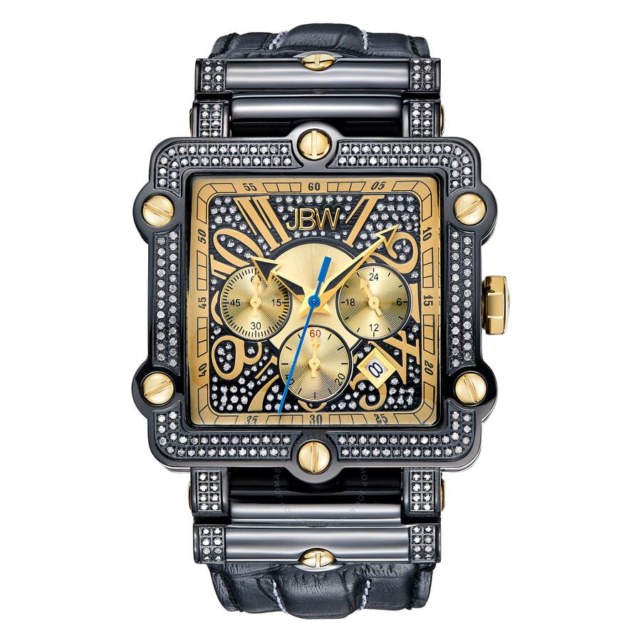 jbw phantom black chronograph crystal dial black ip steel diamond jbw phantom black chronograph crystal dial black ip steel diamond men s watch jb 6215