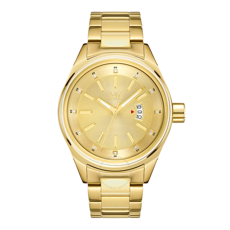Jbw Rook Gold Tone Dial Gold Tone Stainless Steel Men S