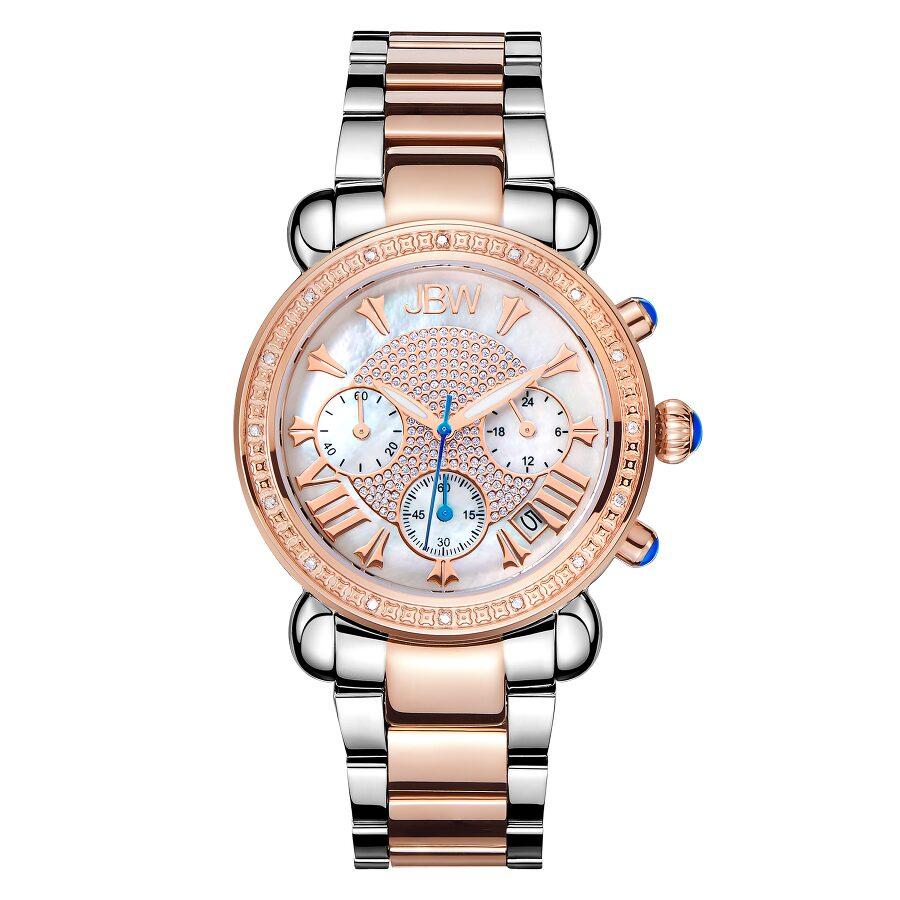 92266b5f9 JBW Victory Diamond Chronograph Mother of Pearl Dial Ladies Watch Item No.  JB-6210-N