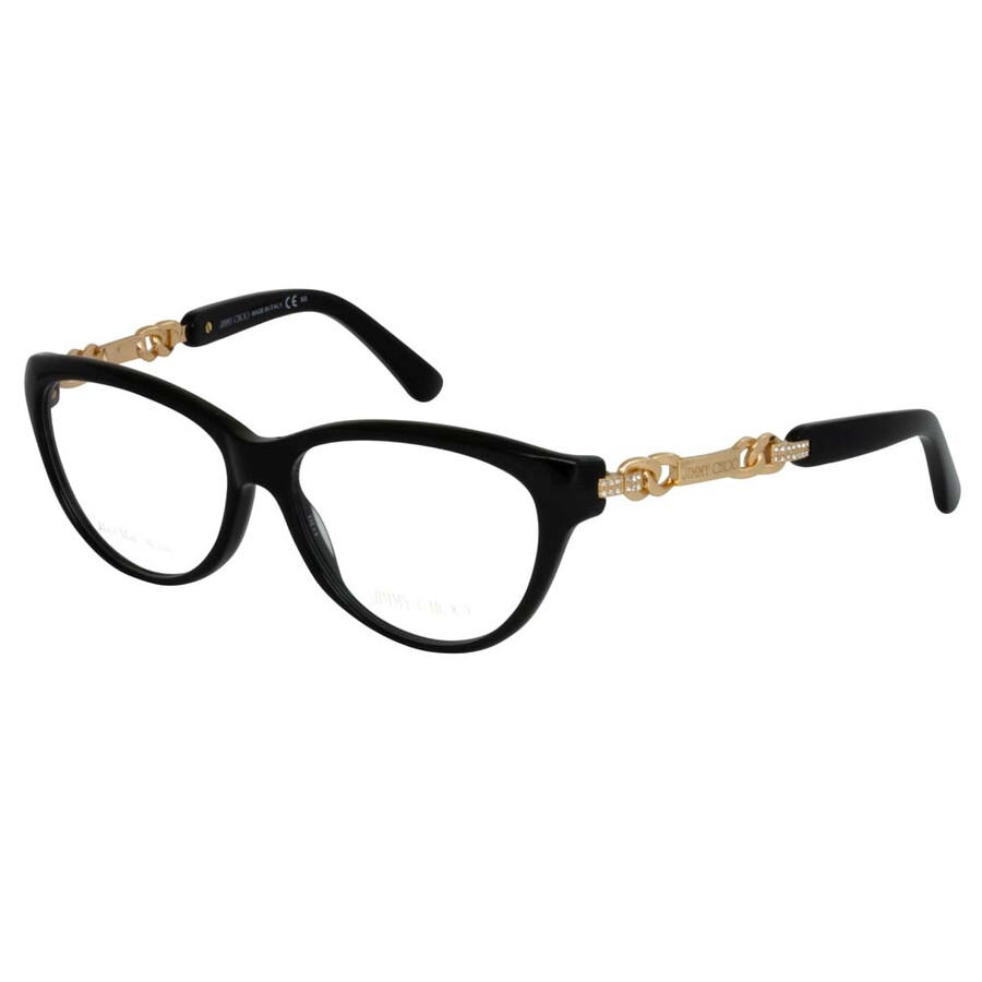 50627c7734d6 Jimmy Choo Black Rose Gold Eyeglasses 94 QFE 54 - Jimmy Choo ...