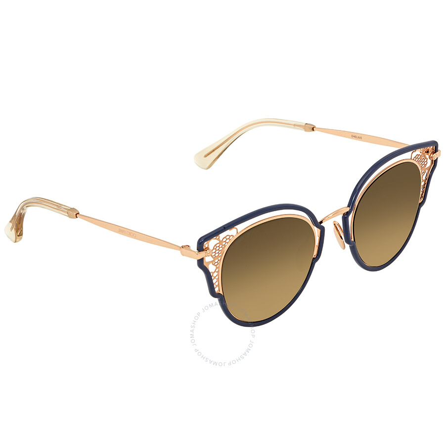 98297e071012 Jimmy Choo Brown-Gold Gradient Cat Eye Sunglasses DHELIA S 48JL 48 ...