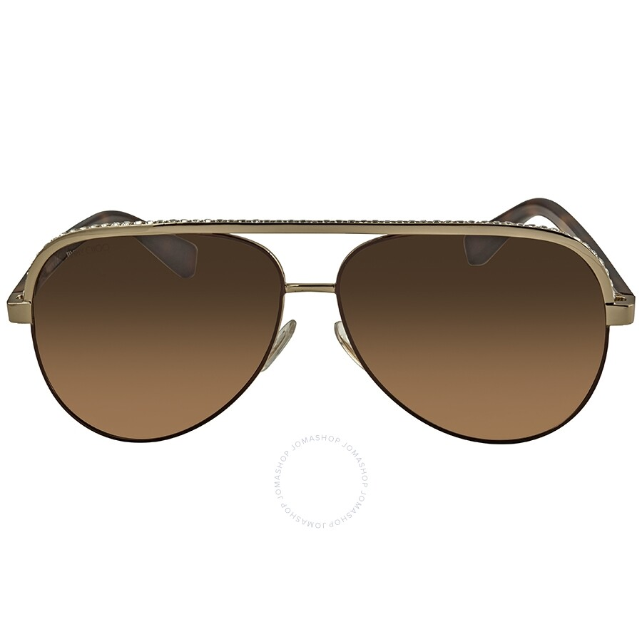 a2ccaf61e090 Jimmy Choo Brown Gradient Aviator Sunglasses LINAS J8A 59 - Jimmy ...