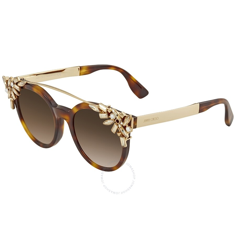 8bf82fb92218 Jimmy Choo Brown Gradient Cat Eye Sunglasses VIVY S 0BHZ 51 - Jimmy ...