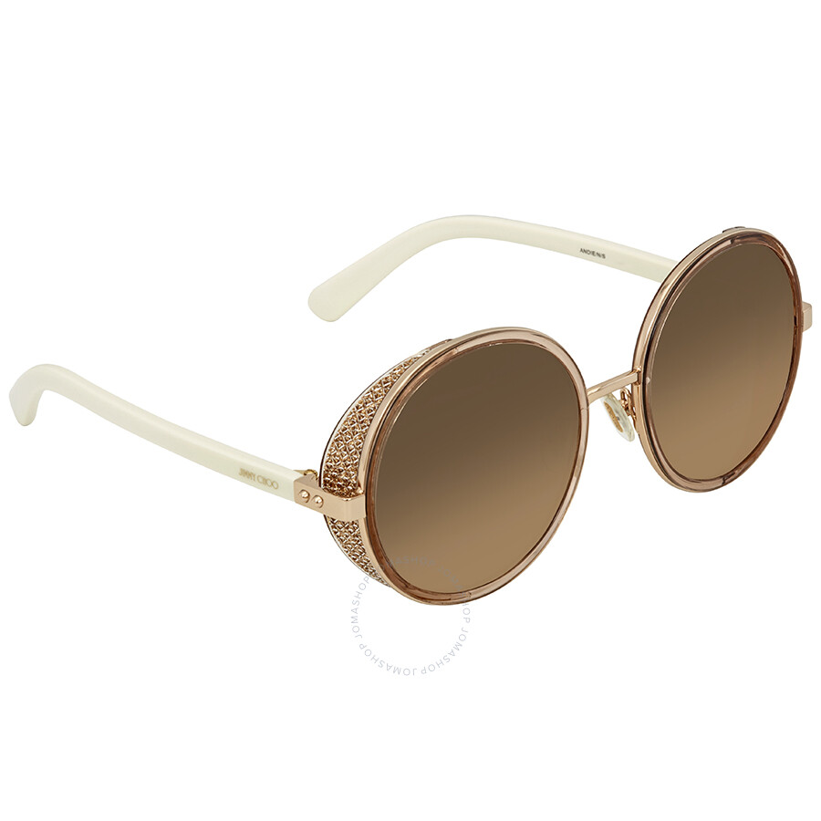 90b21fcb25 Jimmy Choo Brown Gradient Round Ladies Sunglasses ANDIE N S 54CC 54 ...