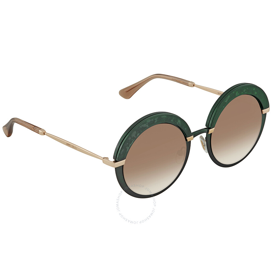 eb0bfc38b18a Jimmy Choo Brown Gradient Round Sunglasses GOTHA S 50JS 50 ...
