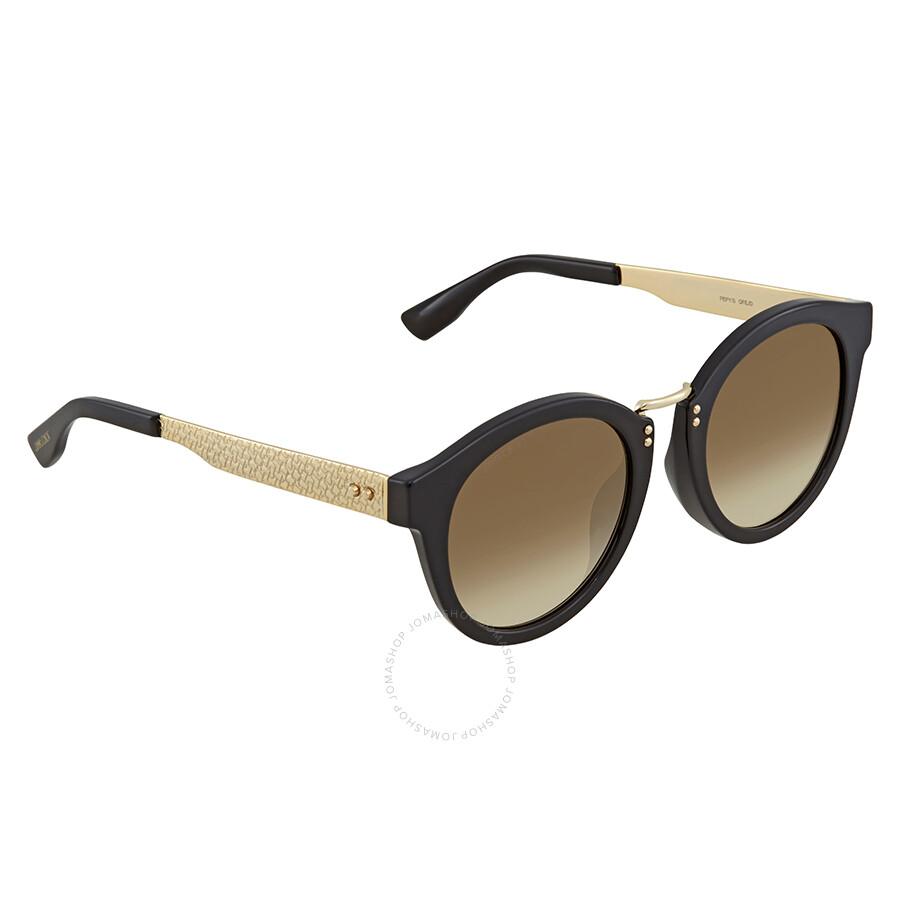 944dabe8b20d Jimmy Choo Brown Gradient Round Sunglasses PEPY S 50JD 50 - Jimmy ...
