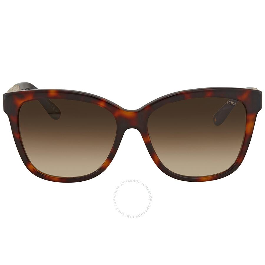 9b0ada79e9d Jimmy Choo Brown Gradient Square Sunglasses CORA S 56JD 56 - Jimmy ...