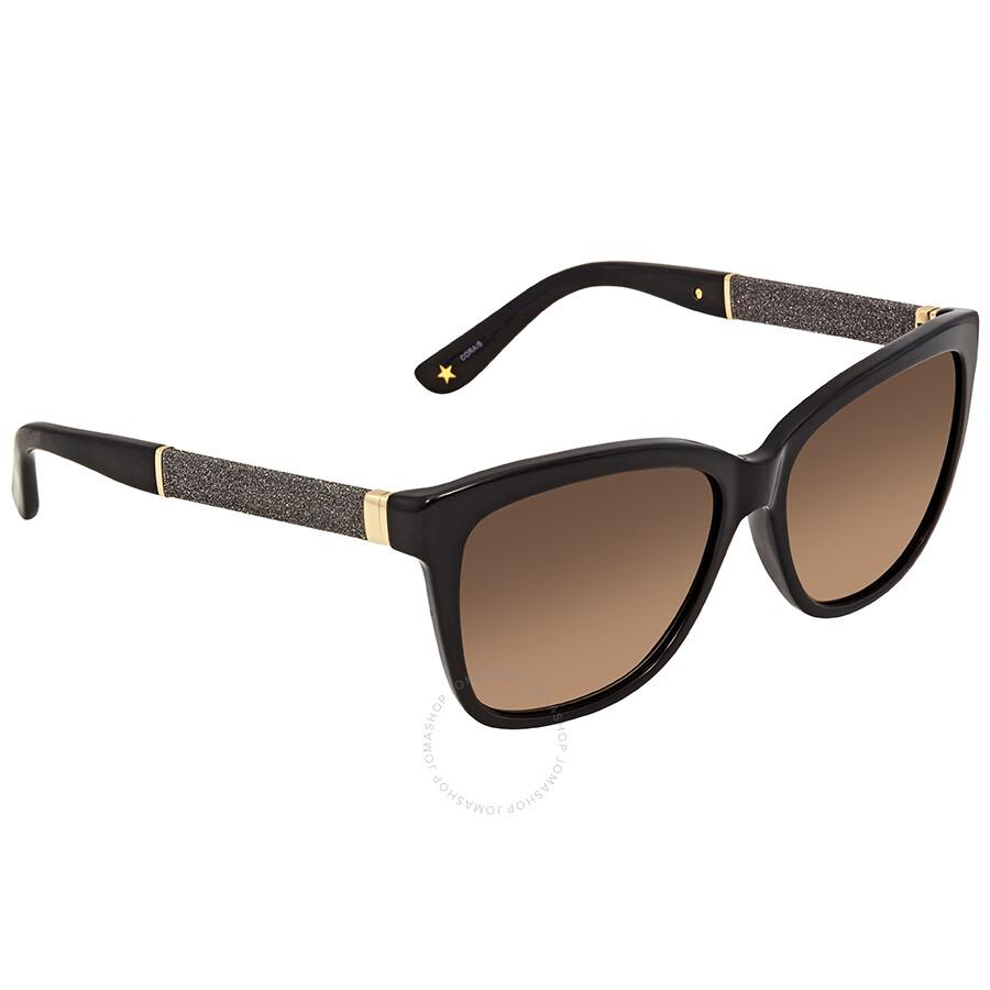2893000d8da Jimmy Choo Brown Gradient Square Sunglasses CORAS FA3 56J6 - Jimmy ...
