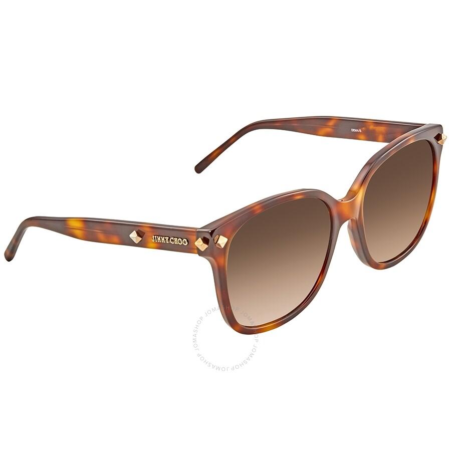 3f530651c45 Jimmy Choo Brown Gradient Square Sunglasses DEMA S 005L 56 - Jimmy ...