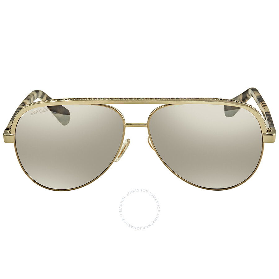 05de408f2693 ... Jimmy Choo Brown Mirror Gradient Aviator Sunglasses LINAS J8B 59 ...
