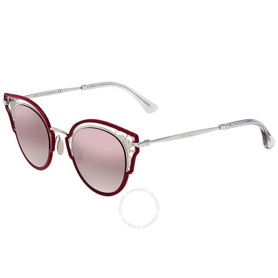 a32ffaba9e Jimmy Choo Brown mirror gradient Cat Eye Sunglasses DHELIA/S 48NQ 48 ...