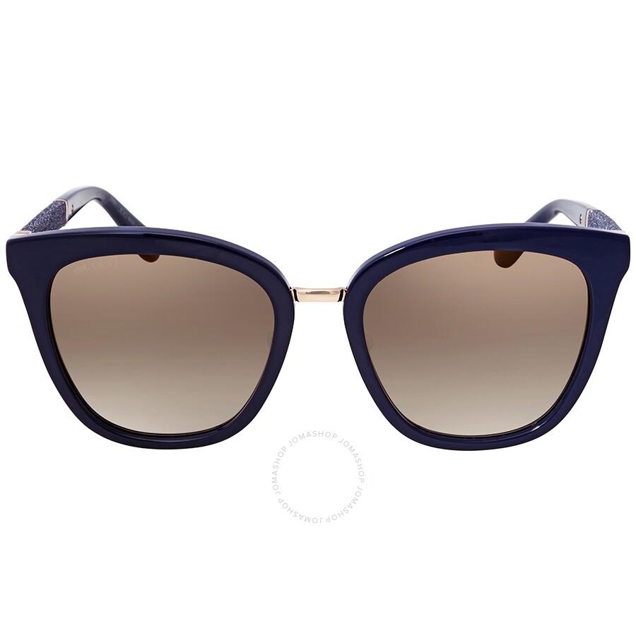 Jimmy Choo Fabry Cat Eye Sunglasses in Blue - Lyst