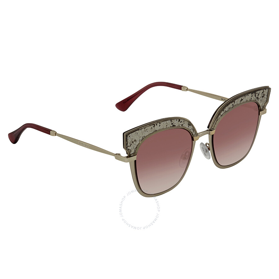 b83cdf375212 Jimmy Choo Burgundy Gradient Cat Eye Sunglasses ROSY S 51FW 51 ...