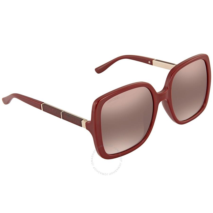 22ed5983a30 Jimmy Choo Chari Brown Mirror Gradient Square Ladies Sunglasses CHARI S  55NQ 55 ...