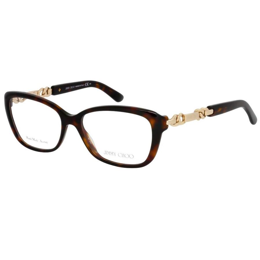61e47198799a Jimmy Choo Clear Havana   Rose Gold Eyeglasses 79 8Q2 52 - Jimmy ...