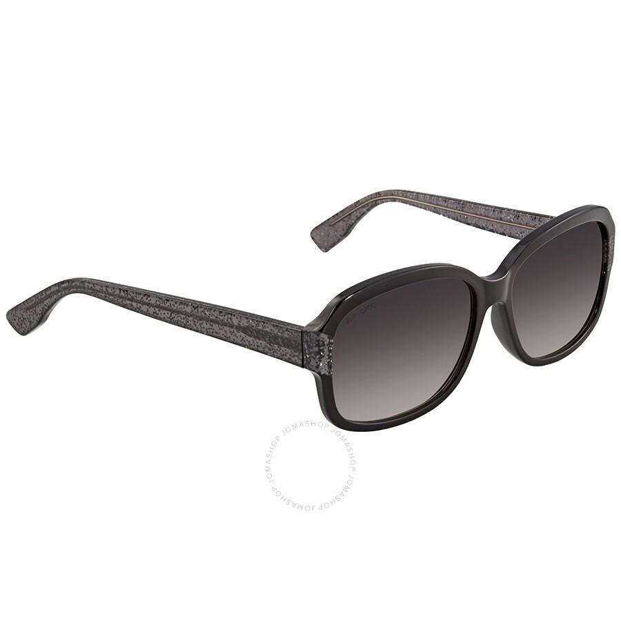 dc508c8043e Jimmy Choo Dark Grey Gradient Rectangular Sunglasses KYLE S 0Q3M 57 ...