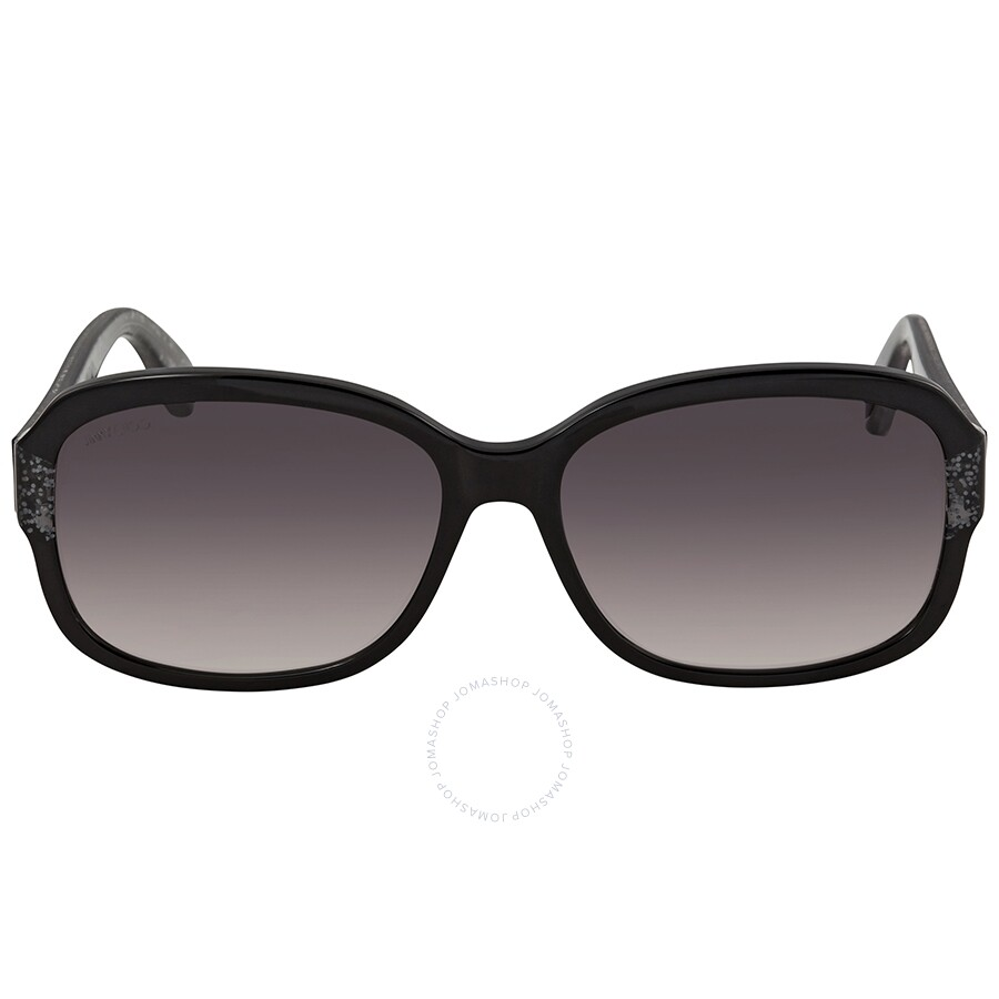 7599dc434f4d ... Jimmy Choo Dark Grey Gradient Rectangular Sunglasses KYLE S 0Q3M 57 ...
