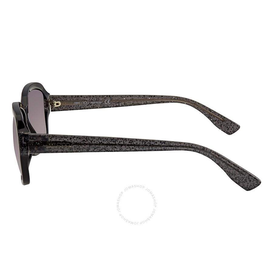 6aae1ccbb4b3 Jimmy Choo Dark Grey Gradient Rectangular Sunglasses KYLE S 0Q3M 57 ...