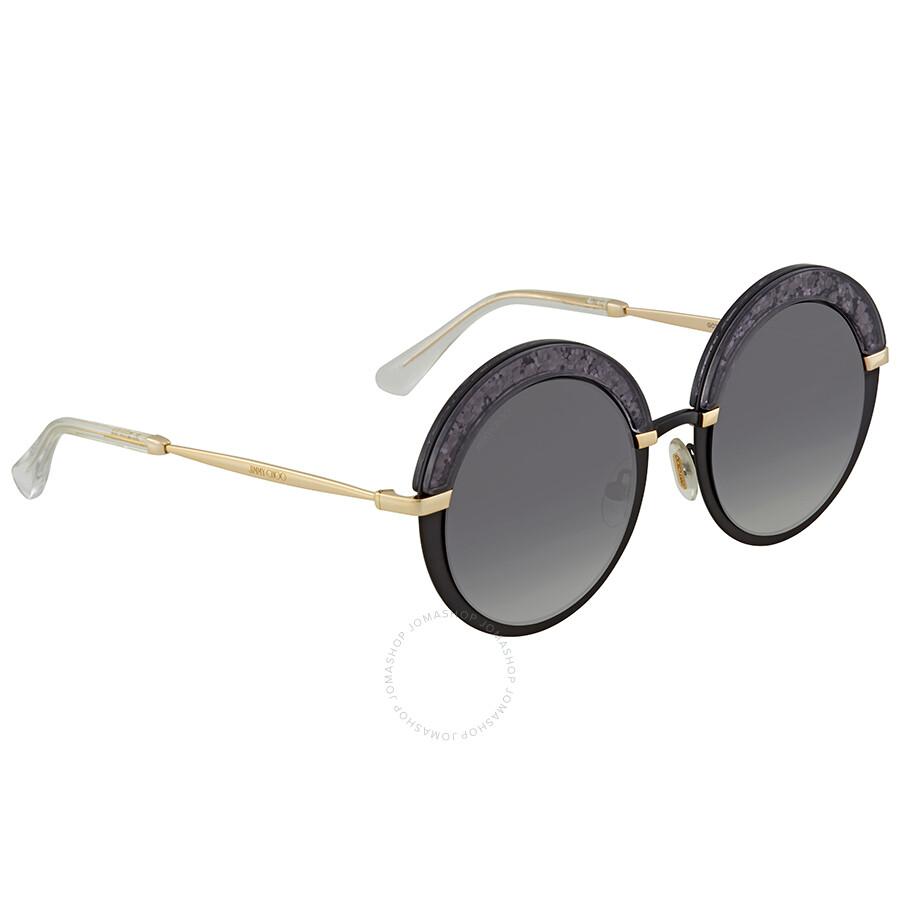 23d55176801b Jimmy Choo Dark Grey Gradient Round Sunglasses GOTHA S 509O 50 ...