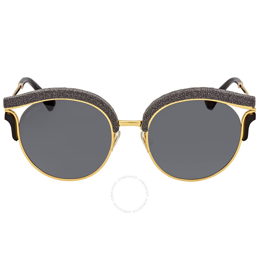 2d7841c7a3c9 ... Jimmy Choo Dark Grey Gradient Round Sunglasses LASH S 539O 53 ...
