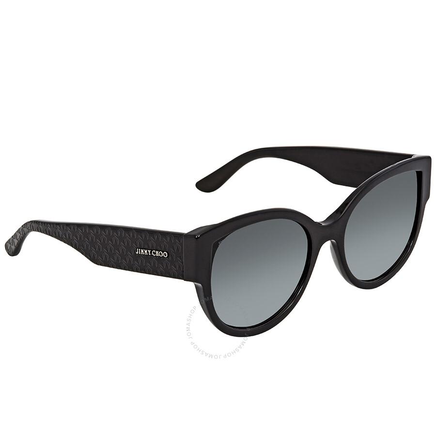 4e4dc9afcb2b Jimmy Choo Dark Grey Gradient Round Sunglasses POLLIE S 559O 55 ...