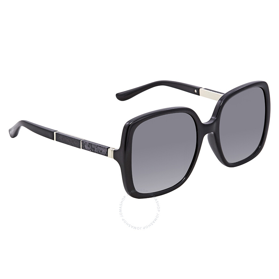 6669b0e94894 Jimmy Choo Dark Grey Gradient Square Sunglasses CHARI S 559O 55 ...