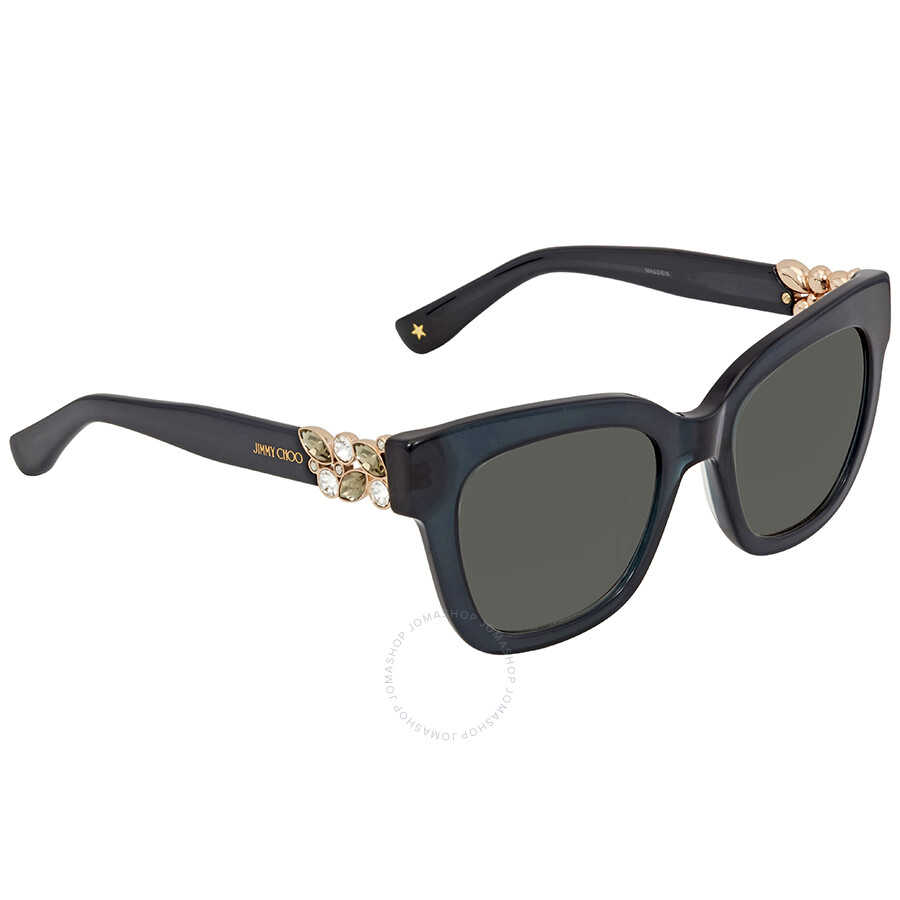 d5605f3b0fe Jimmy Choo Dark Grey Square Sunglasses MAGGIE S 51IC 51 - Jimmy Choo ...