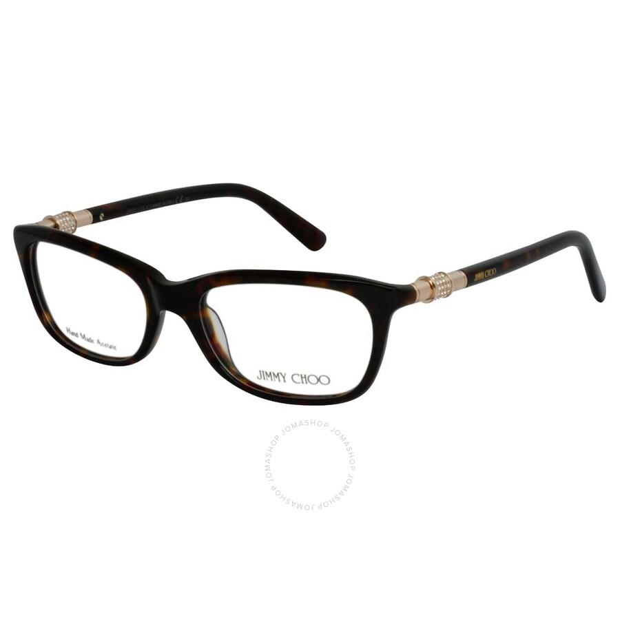 40b1fc1776c3 Jimmy Choo Dark Havana Eyeglasses 81 TVD 51 - Jimmy Choo ...
