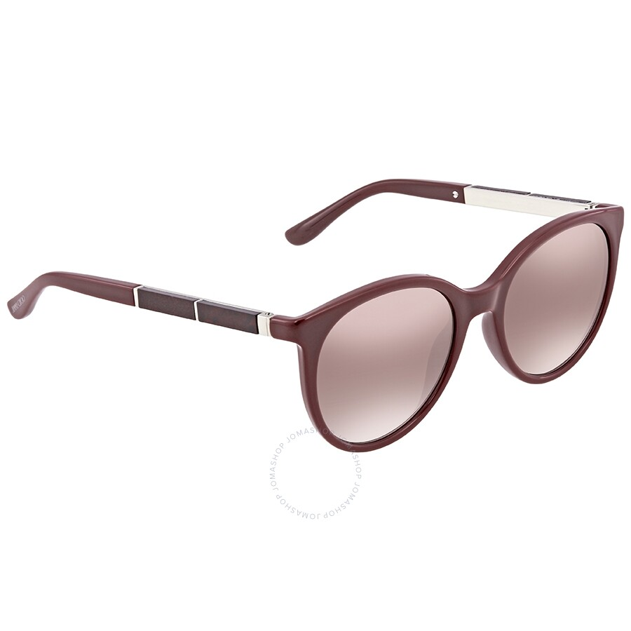 c559c638a547 Jimmy Choo Erie Brown Mirror Gradient Cat Eye Ladies Sunglasses ERIE S 54NQ  54 ...
